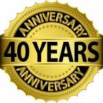 40 year anniversary January 2014